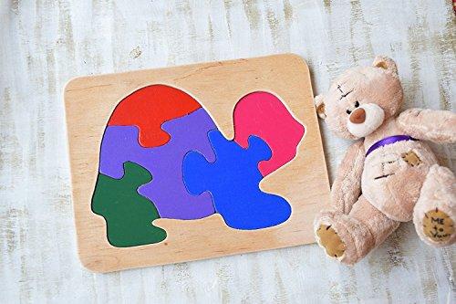 Holz Puzzle Schildkröte Montessori hölzernes Waldorf Spielzeug pädagogisches Spiel Tier Baby Spielzeug Hölzernes Puzzles Baby Geschenk Kleinkind Lernspiel Eco freundliche Kleinkind Spiel Puzzle