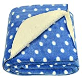#5: Brandonn Polka Wrapping Sheet Cum Baby Blanket for Babies (Royal Blue, 75cmx98cm)