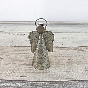 Engel Weihnachtsdeko 10cm - silber | Deko-Figur Engel aus Blech | Handarbeit | Deko Figur | Weihnachten Figur Dekoration