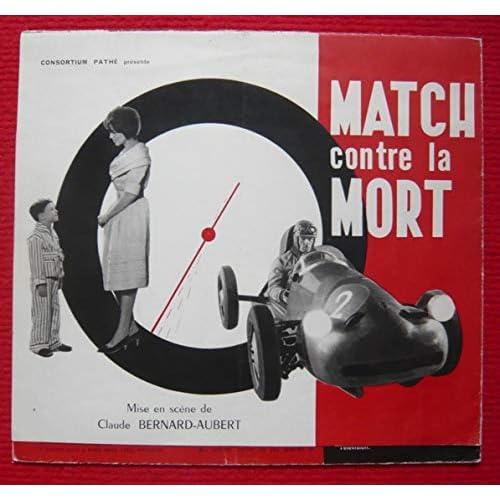 Dossier presse de Match contre la mort (1959) – déplié 48x60cm - Film de Bernard-Aubert avec A Lualdi, G Blain, P Bellemare, R Couderc– Photos N&B – Trace de crayon bille sur une page