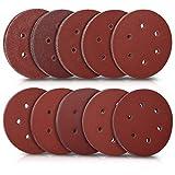 Navaris 100x Klett Schleifpapier rund für Exzenterschleifer - 40-400 Körnung ø 150mm Schleifscheiben Set für Holz Holzwerkstoffe Spanplatte Metall