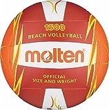 Freizeitball, weiches Synthetik-Leder, maschinengenäht - Farbe: Rot/Orange/Weiß, Größe: 5