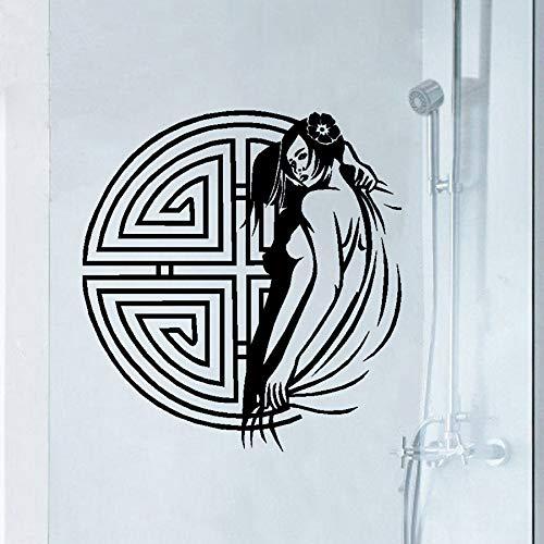 haotong11 Klassische Charmante Frau wasserdichte Vinyl Wandtattoos Traditionellen Chinesischen Stil Wandbild Wandaufkleber Pub/Bad Decoration6 0 * 55 cm -