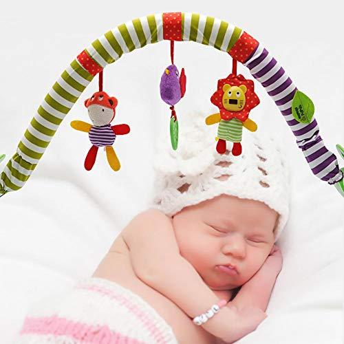 Imagen para Bebé colgando campana-bebé cama clip cochecito colgante adorable niños sonido juguetes cama colgante sonajero cuna música cama campana proyección juguete colgante giratorio sonajeros animales