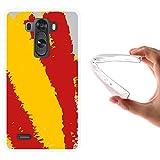 WoowCase Funda LG G3, [LG G3 ] Funda Silicona Gel Flexible Bandera España, Carcasa Case TPU Silicona - Transparente