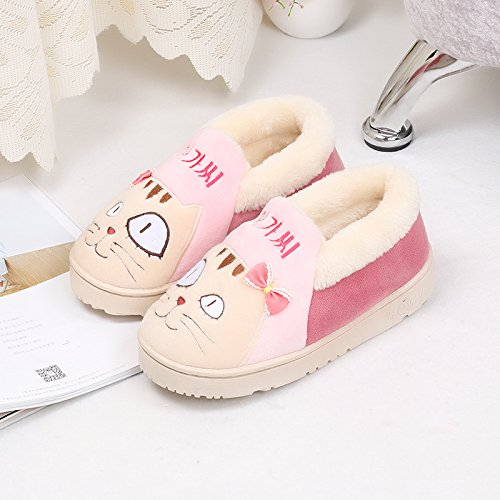 Fankou all-inclusive pantofole di cotone inverno genitore-bambino giovane indoor anti-skid scarpe di cotone cartoon Männlich - Dunkelgrün