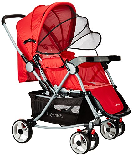 Tiffy & Toffee Baby Stroller Pram with Rocker (Candy Red)