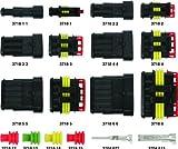 Kit de conectores macho y hembra Super Seal, 4 vías herméticas, para coche, moto, caravana
