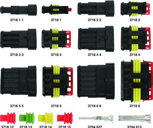Kit Connettore Maschio Femmina Superseal 2 Vie Tenuta Stagna X Auto Moto (Cablaggi Elettrici Connettore)