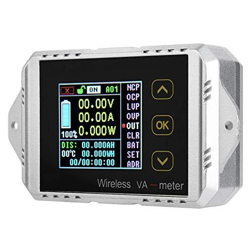 Akozon Multimeter DC AC Voltmeter, VAT1030 Wireless Farb-LCD-Bildschirm DC Spannung Amperemeter Leistungsmesser 0-30A 0-100V, Digital Watt Tester, Elektrische Digital Spannung Tester -
