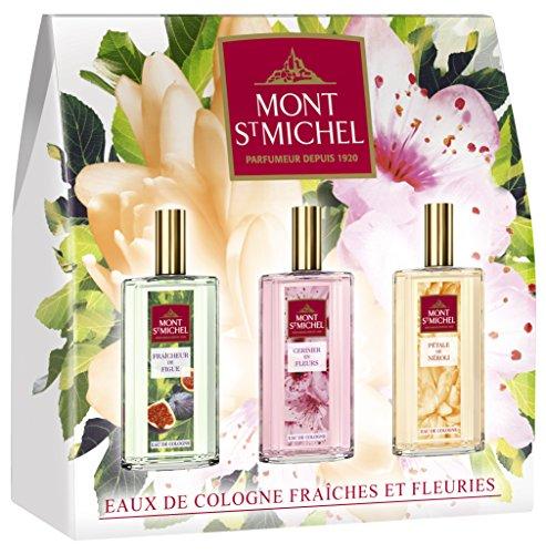 Mont Saint Michel Coffret 3 produits Pétale de Néroli, Fraicheur de figue, Cerisier en fleurs - Eaux de Cologne 3 x 75ml