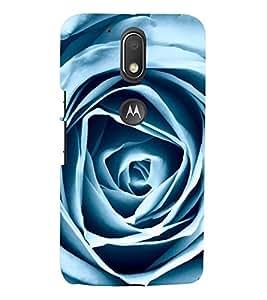 VINTAGE WHITE PAPER FOLDED ROSE DESIGN 3D Hard Polycarbonate Designer Back Case Cover for Motorola Moto G4 Play