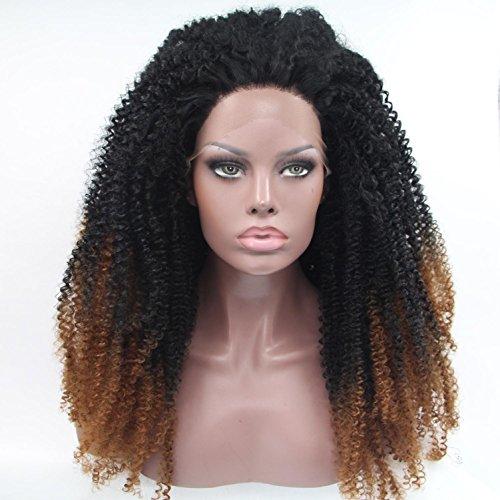 AN-LKYIQI Perücke synthetischen Spitzen Front Perücke African American Twist Geflecht Perücke für schwarze (Perücken Bulk)