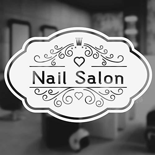 wlwhaoo Nail Bar Salon Quote Decalcomania da Muro per Salone di Bellezza Manicure Nail Salon Parete Divano Sfondo Decorazioni Adesivi Pedicure Poster Nero 42X27 cm