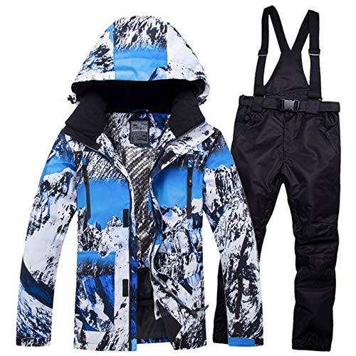 XMDNYE Snowboardjacke Und Schneehosen Männer Hohe Qualität Wasserdichte Mann Skifahren Snowboard Jacken Wintersport Männliche Skibekleidung Kleidung,L