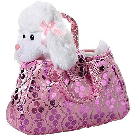 Heunec 501775–Barboncino in borsa, bianco/rosa