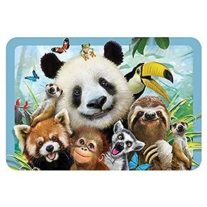 Howard HR40109 Robinson Selfie Zoo - Mantel Individual para niño