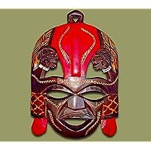 màscara de madera hecho a mano Kenya Masai tribal decoracion por la casa de pared (large)