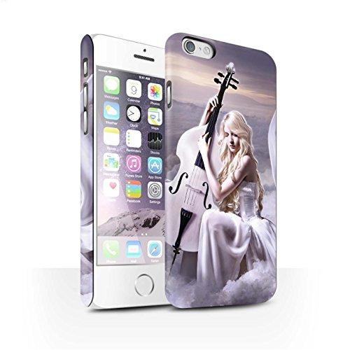 Officiel Elena Dudina Coque / Clipser Matte Etui pour Apple iPhone 6S / Mélodie du Silence Design / Réconfort Musique Collection Violoncelle/Nuages