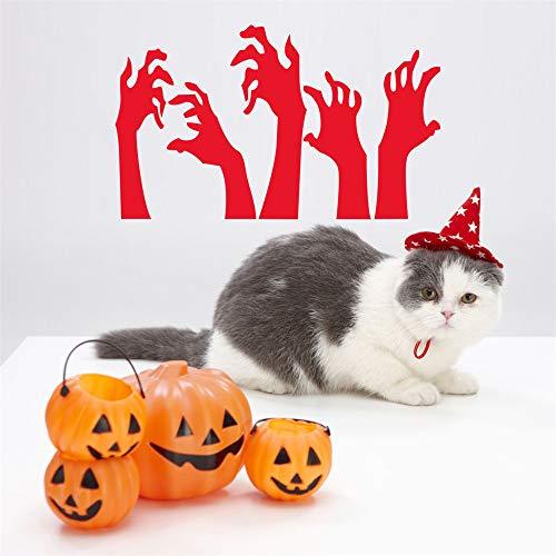 (HARRYSTORE Happy Halloween Hintergrund Wandsticker Fenster Zu Hause Dekoration Aufkleber Dekor)