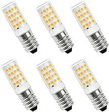SHINE HAI bombillas LED E14,4W equivalentes a Lámparas halógenas de 40W,Blanco cálido 2700k,350LM,AC 220-240V,51xSMD 2835,Pack de 6