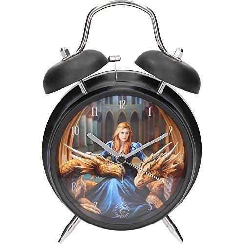 Fierce Loyalty - Reloj despertador con diseño de dragón por Anne Stokes (17 x 10 cm)