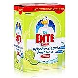 Original WC Ente Nachfüller für WC Ente Frische Siegel Spendergriff, Für Frische und Sauberkeit bis zu 16 Wochen, Limone-Duft, 2 x 36 ml, Frische Siegel