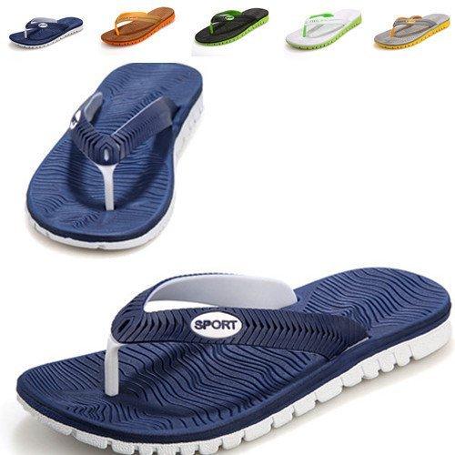 EU Gr枚脽e Neoprenschuhe und Flops Mode Hawaii Herren Minetom Wasserschuhe Zehentrenner Surf Badeschuhe Blau Flip FfnwTqP7