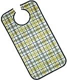 PFLEGE-POINT Kleidungsschutz/Ess-Schürze für Erwachsene, wasserdicht (blau-beige)