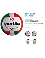 sportika, balón Volley Indoor, Art.7112, color navy-giallo (unidades de 4pz.)