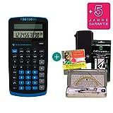 Texas Instruments Streberpaket: TI-30 Eco RS + Schutztasche + Lern-CD (auf Deutsch) + Geometrie-Set + Erweiterte Garantie