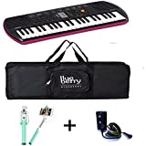 Casio SA 78 Mini keyboard with Adapter & Blueberry Black Bag along with Selfie Stick