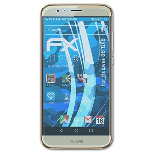 atFolix Schutzfolie kompatibel mit Huawei G8 GX8 / G7 Plus Folie, ultraklare FX Bildschirmschutzfolie (3X)