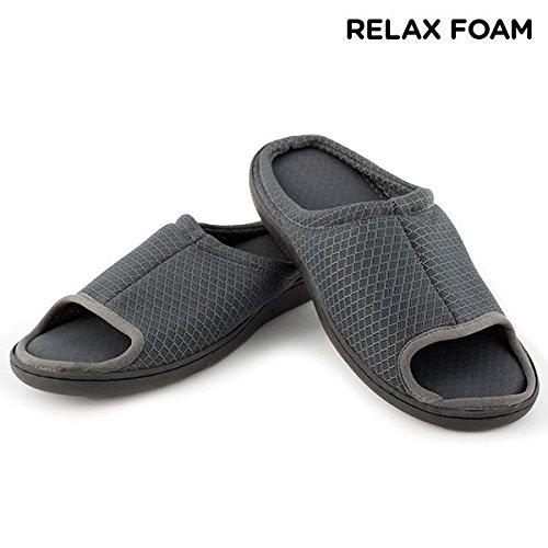 Welzenter Relax Air Flow, Zapatillas de Estar por casa con talón Abierto Unisex Adulto, (Gris 8511), 39-41 EU