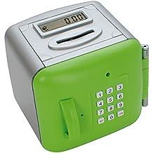 Makro Paper 630479 - Caja de seguridad (pequeña), color gris y verde