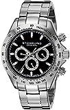 Stuhrling Original Octane Raceway - Reloj de cuarzo, para hombre, con corea de acero inoxidable, color plateado
