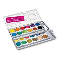 Pelikan Farbkasten K24 Tuschkasten Deckfarbenkasten Standard  24 Farben Deckweiß