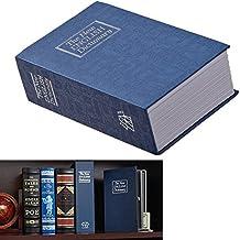 Diccionario–Caja fuerte con llave de bloqueo de bloqueo Handsome–Seguridad para el hogar y 2llaves incluidas, acero interior-blue-small