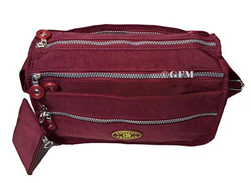 GFM nylon doccia/pioggia resistente a tracolla per vacanze o uso casual. Style 4 - Navy Blue (GHNL)