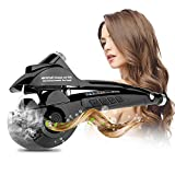 Marui Automatischer Lockenstäbe Haare Locken Lockendreher mit digitalem LED-Display (Black)