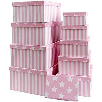 brandsseller geschenkbox aufbewahrungsbox kartenkarton mit deckel stabiler karton mit sternen. Black Bedroom Furniture Sets. Home Design Ideas