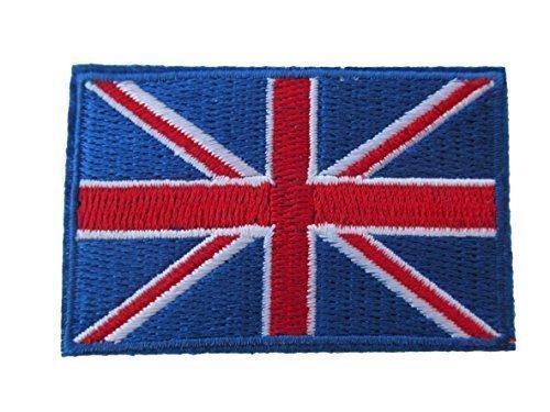 verschiedene Farben Union Jack, Armee, England, Vereinigtes Königreich, patriotisch Flagge Eisen Aufnäher Kleidung Aufnäher von fat-catz-copy-catz - blau Union Jack Aufnäher, Small (Union Blau-kleidung)