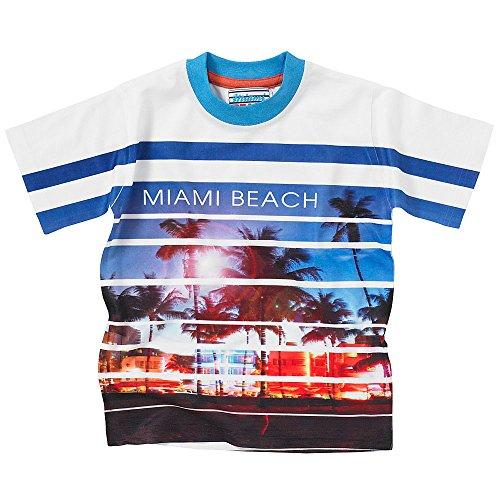 Miami Beach Boys Outerwear Jungen T-Shirt Gr. 92/98, blau/weiß
