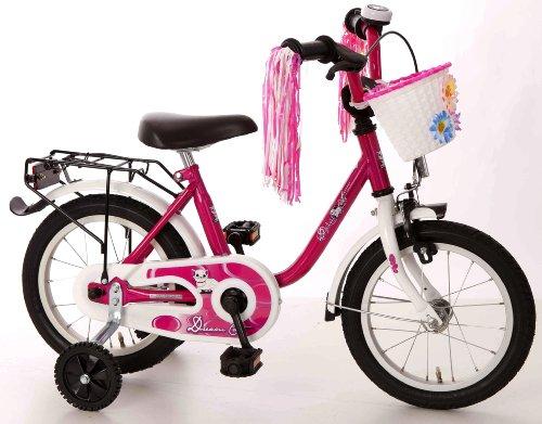 Bachtenkirch Kinder Fahrrad Dream Cat Kinderfahrrad purpur/Weiß 14 Zoll