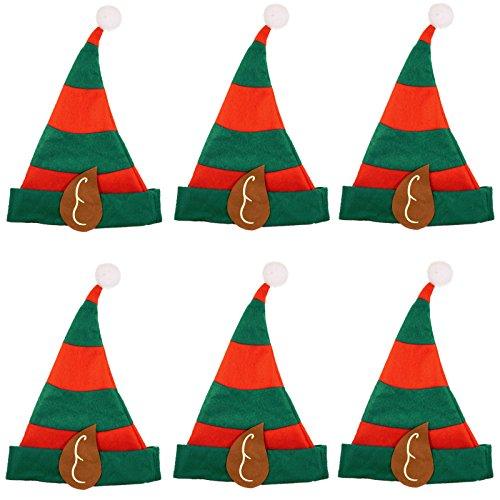 6 Kinder Elfenmützen Hut für Elfen für Kostüm Elfe Waldgeist Elfenhut Elfenmütze
