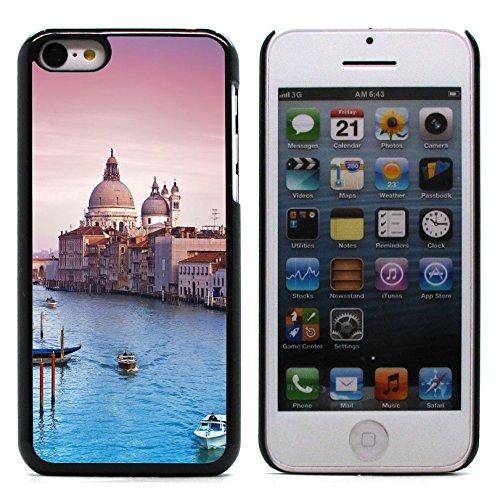 Graphic4You Manarola Italy Postkarte Ansichtskarte Design Harte Hülle Case Tasche Schutzhülle für Apple iPhone 5C Venice #2