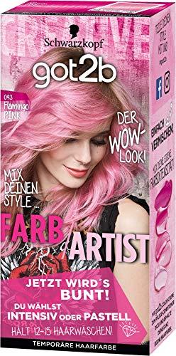 Schwarzkopf Got2b Farb/Artist Haarfarbe, 093 Flamingo Pink, 3er Pack (3 x 80 ml)