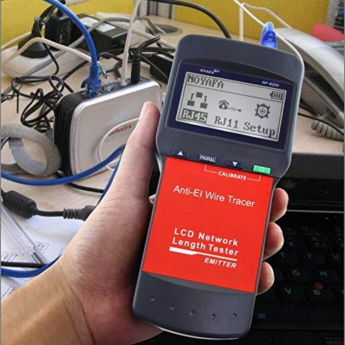 Preisvergleich Produktbild iUcar NF-8200 LCD-Display RJ45-Kabellänge-Tester Ethernet-Netzwerk-Leitungssucher