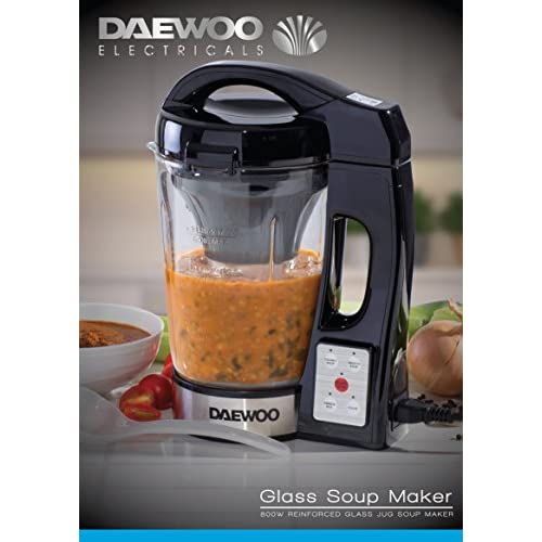 51WhKRQXbVL. SS500  - Daewoo SDA1076 Soup Maker, 18/10 Steel, 900 W, 1.7 liters, Black