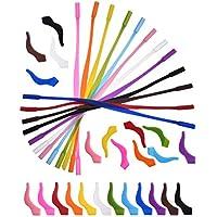 Hestya 12 Piezas de Correa de Gafas de Silicona de Niños con 12 Pares de Ganchos de Agarre de Oreja Retenedor Antideslizante Cordón para Gafas Gafas de Sol, 12 Colores
